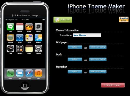 Temi fai da te con iPhone Theme Maker
