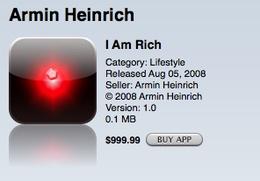 i am rich 799 euro applicazione