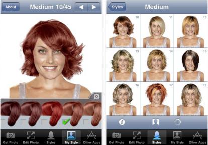 Prova tagli di capelli virtuale su foto